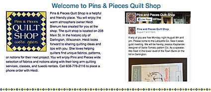 Pins and Pieces Quilt Shop